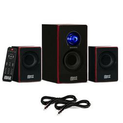 Acoustic Audio 2.1 Bluetooth 3 Piece Speaker System and 2 Ex