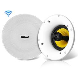 Pyle Home In-Ceiling Speakers w/Built-in Bluetooth,WiFi Wire