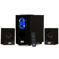 Acoustic Audio AA2130 Bluetooth Home 2.1 Speaker System for