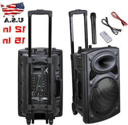 Best Sound System 2019 Portable Active PA Speaker with Mic a