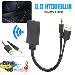 Bluetooth 5.0 Receiver Adapter USB + 3.5mm Jack Stereo Audio