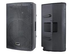 dual 15 inch 4000w pa powered speakers