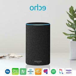 echo 2nd generation smart assistant charcoal fabric