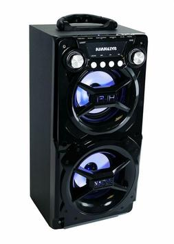 Sylvania Portable Bluetooth Speaker with Aux Input in Black