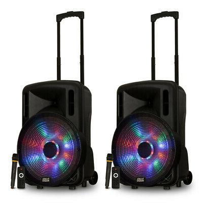 acoustic audio rechargeable battery 15 bluetooth speakers