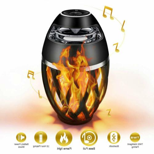 Led flame table lamp Torch Atmosphere Bluetooth HD Enhanced Bass