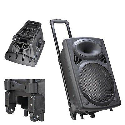 Portable Active w/ Bluetooth SD LCD FM Woofer