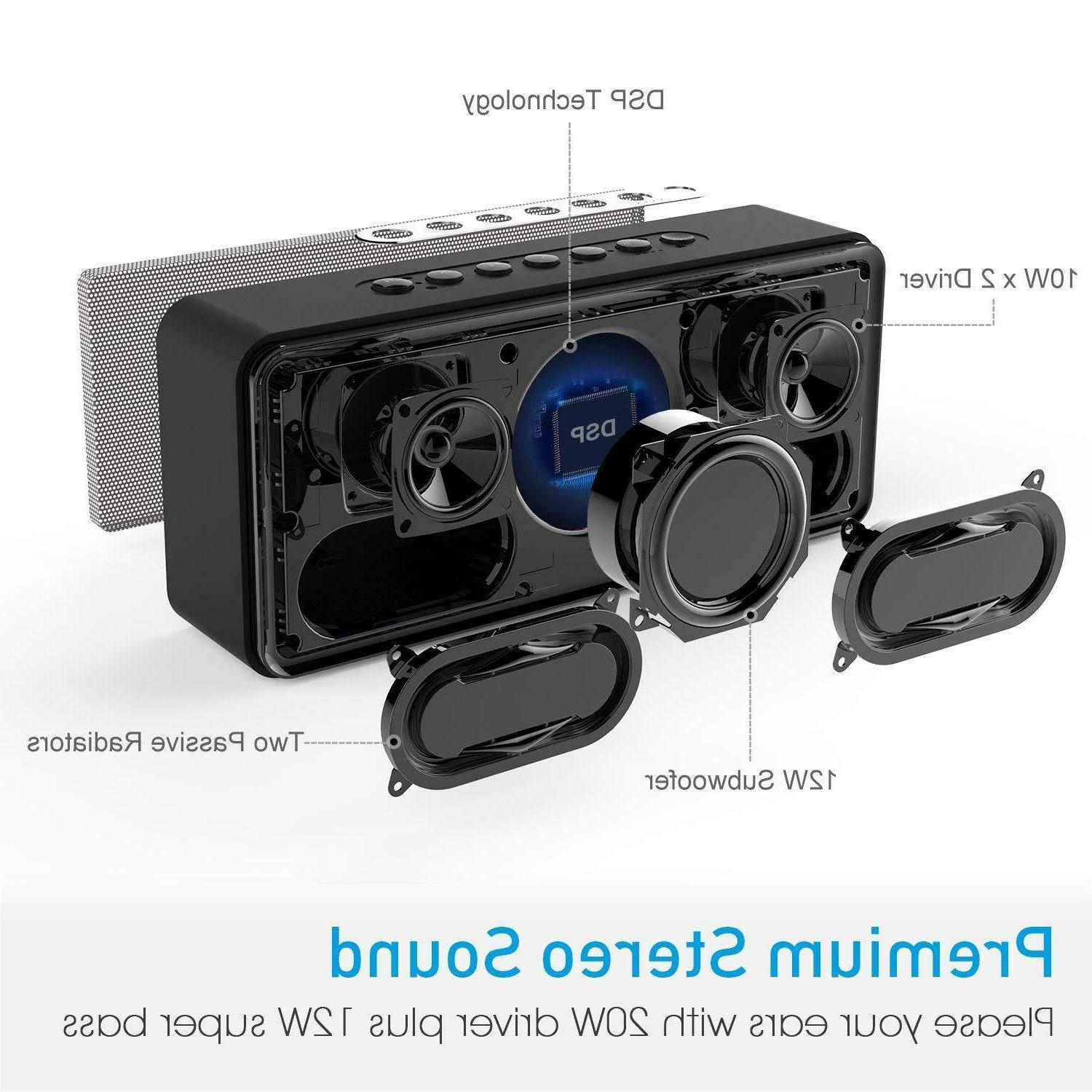 DOSS Bluetooth Speakers Louder 20W Driver