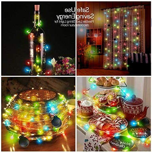 LED String Light 4 Speakers, 70 Lights Speakers Decoration Party, for Indoor Outdoor