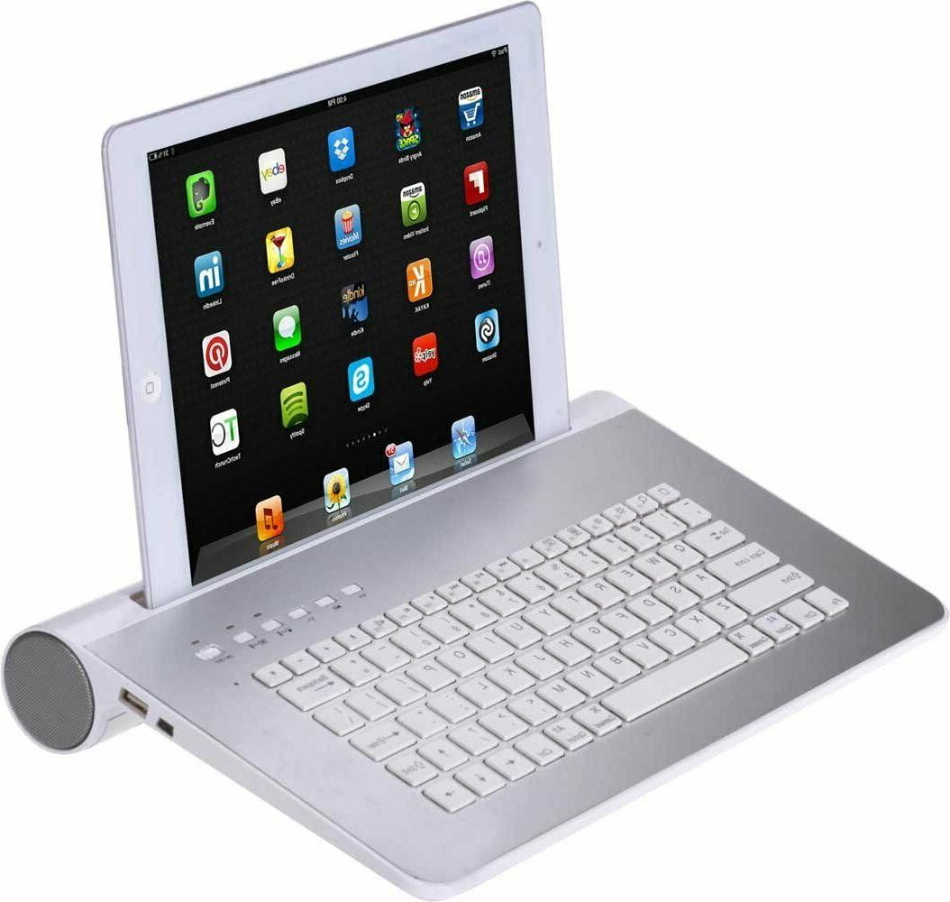 wireless tablet station with bluetooth keyboard