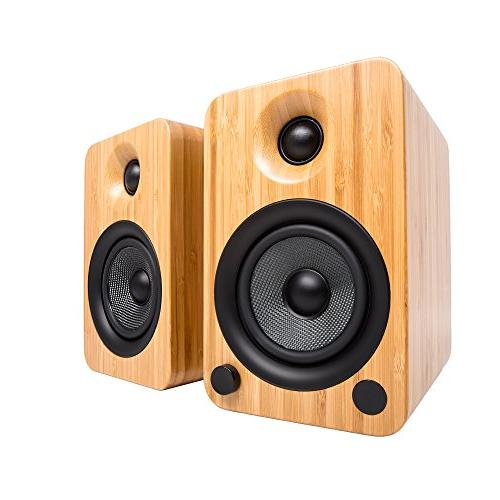 Kanto YU4 with and Phono Preamp - Bamboo