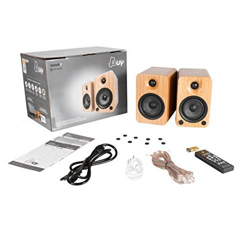 Kanto YU4 Speakers with Preamp - Bamboo