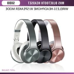Sodo MH5 Bluetooth Stereo Headset With Speaker Foldable Wire