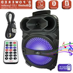 """Rechargeable Portable Bluetooth Speaker With 8"""" Subwoofer So"""
