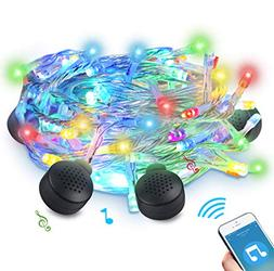 LED String Light with 4 Bluetooth Speakers, ABLEGRID 70 LED
