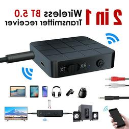USB Bluetooth 5.0 Receiver Adapter 3.5mm AUX Stereo For   He