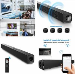 Wireless Bluetooth Sound Bars BLACK Speakers For Tv Stereo W